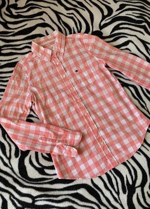 Рубашка colin's женская клетка оригинал хлопок