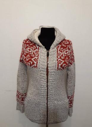 Кофта colins sm свитер свитшот худи толстовка с капюшоном на молнии,с мехом