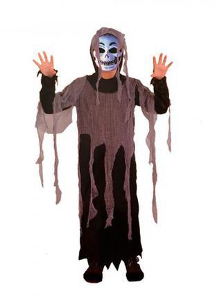 Детский маскарадный костюм на хэллоуин призрак зомби +подарок