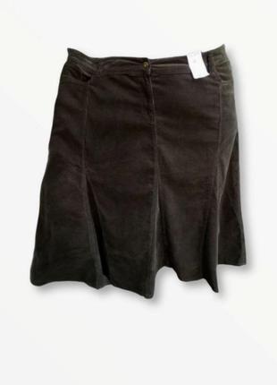 Роскошная вельветовая юбка большого размера evans