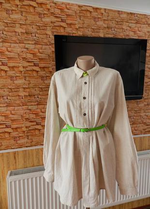 💣шикарное платье рубашка с ткань натуральная  imperial