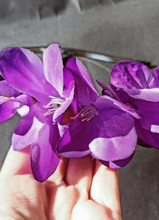 Обруч з квітами с цветами