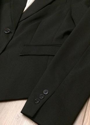 Коттоновый чёрный деловой пиджак-жакет h&m новый распродажа остатков!