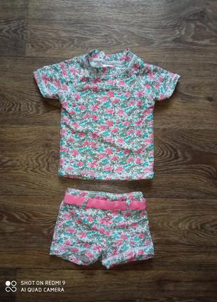 Детский раздельный солнцезащитный купальный костюм для пляжа купальник для девочки