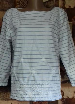 Блузка известного бренда gant,100%хлопок,р.40/l