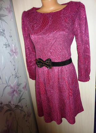 Кокетливое платье trg, размер m (38), цвет розовый+черный. состояние нового