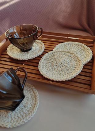 Подставка под чашку, сервировочная салфетка, подставка под горячее
