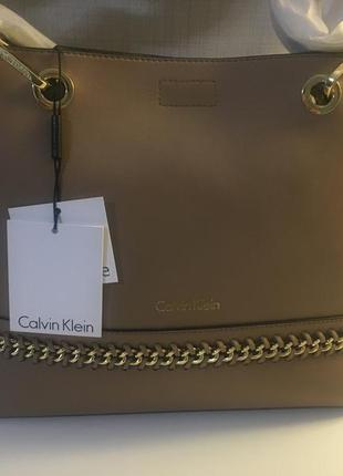 Кожаная сумка calvin klein оригинал