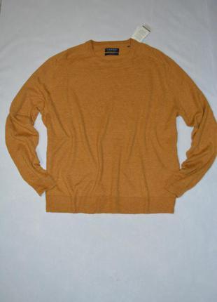 Батал!!! тонкий мужской свитер шерсть большой размер 60-62 c&a германия