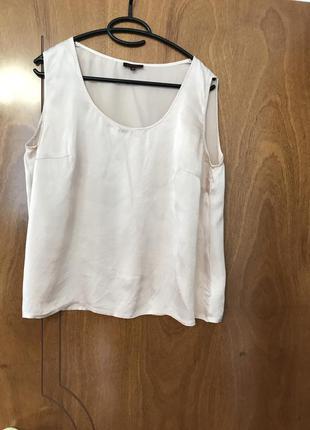 Нюдовая шелковая блуза 💯 % шёлк escada