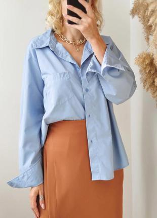 Сорочка оверсайз голуба biaggini розмір s-m-l