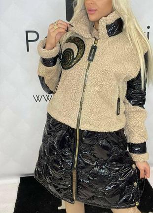 Шикарное пальто,шубка, премиум качество, размер л.
