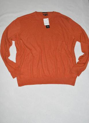Батал!!! тонкий теплый мужской кашемировый свитер размер 64-66 c&a германия