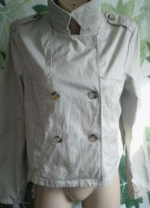 Укороченый короткий стильный пиджак жакет курточка хлопок хлопковый на пуговицах  pimkie британия