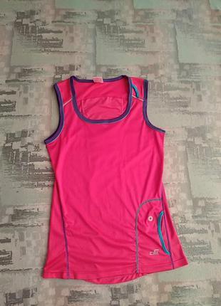 Спортивная беговая майка, футболка с карманом .p/38.