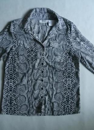 Рубашка принт рептилия