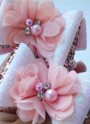 Бантики цветы цветок банты экокожа