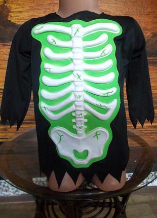 Кофточка на хэллоуин скелет зомби на 3-5 лет германия