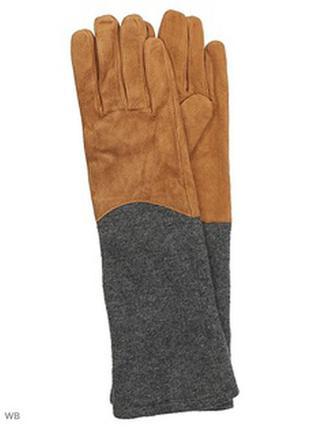 Замшевые перчатки reserved варежки кожаные перчатки