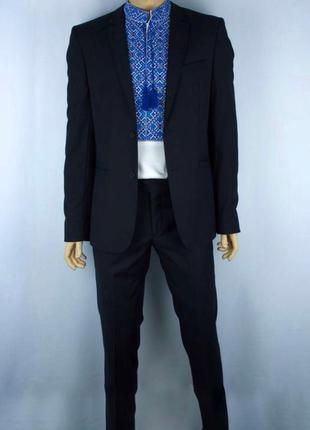 Чоловічий темно-синій костюм legenda class
