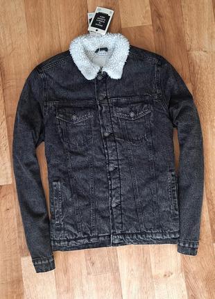 House джинсовая куртка с мехом