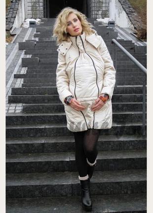 Куртка mum's joy 3 в 1 для беременных со слинговставкой, размер  хs