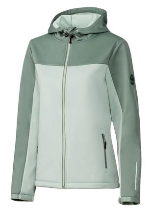 Ветрозащитная функциональная женская куртка с капюшоном и светоотражающими деталями crivit евро40-42