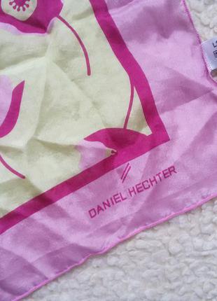 Шелковый платок daniel hechter / 100% silk 69*69