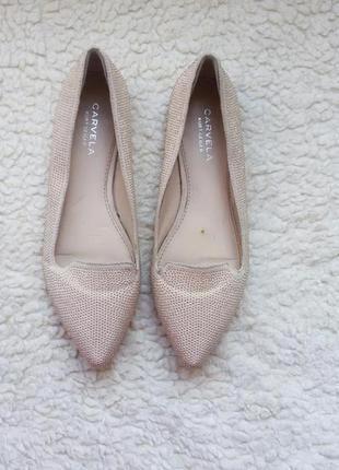 Брендовые балетки цвета пудры carvela kurt geiger