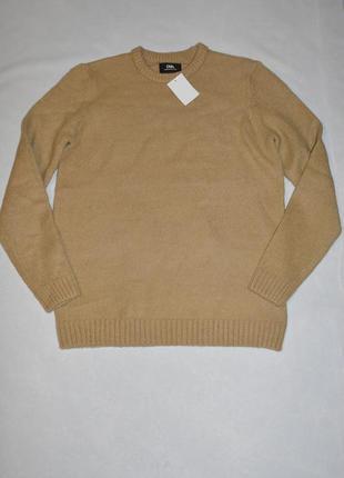 Батал!!! теплый не плотный бежевый мужской свитер большой размер 60-62 c&a германия