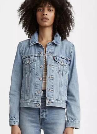 Куртка джинсова жіноча levis  original trucker jacket куртка джинсовая левис оригінал