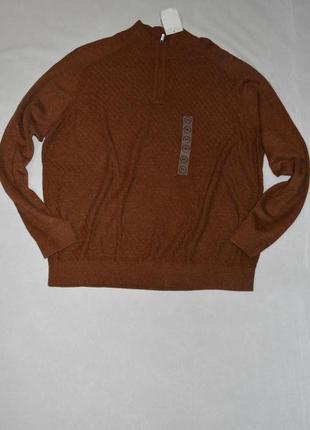 Батал!!! коричневы мужской свитер большого размера 60-62 c&a германия
