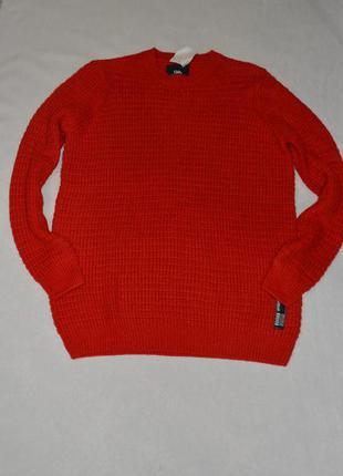 Батал!!! красный мужской свитер большого размера 60-62 c&a германия