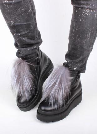 Ботинки зимние из натуральной кожи