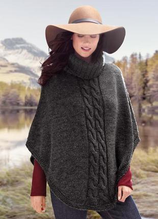 Вязаное пончо с шерстью от tchibo.