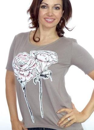 Віскозна футболка з малюнком квітів   футболка великого розміру