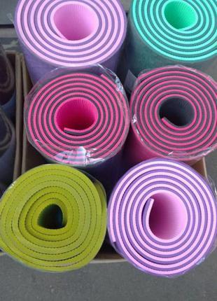 Коврик каримат йогамат мат для йоги тринеровок