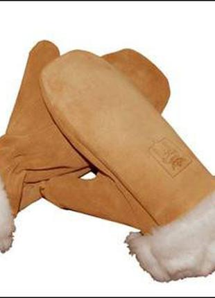 Кожаные перчатки варежки harmon р.l 9-9,5 обхват 24-26см германия новые на овчине