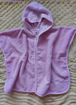Полотенце - накидка с капюшоном, уголок  armani baby  с биркой 12/24м для девочки