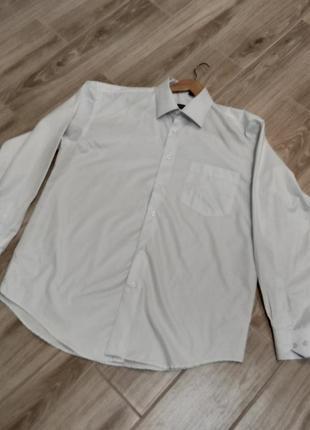 Мужская белая базрвая рубашка
