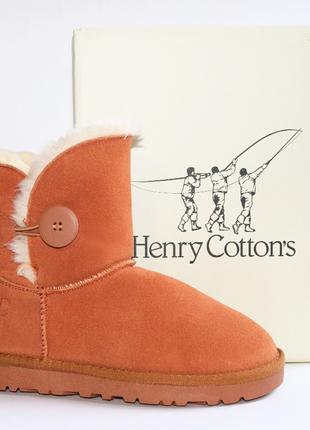 Зимние угги henry cottons оригинал. натуральная замша, мех. 37-40