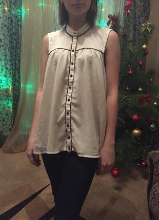 Бежевая блуза vero moda