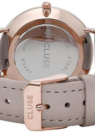Cluse ремешок для часов бежевый кожаный 18 мм шкіряний беж / золотой