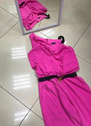 🆘🔥последняя цена до 15 октября 🆘🔥 розовый яркий брючный комбинезон на одно плече
