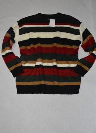 Батал!!! красный теплый свитер большого размера 60-62 c&a германия