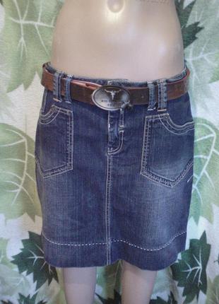 Fitt miss etam jeans makes стильная юбка джинсовая джинс