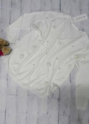 Белоснежный итальянский свитер размер универсальный