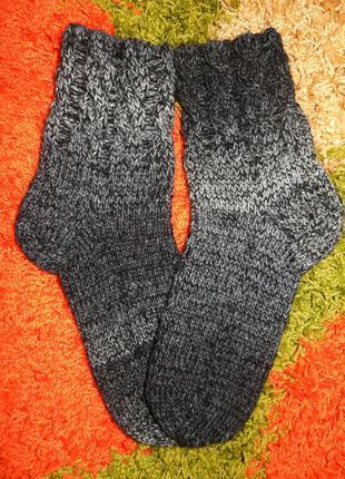 Теплые носки вязаные,ручная работа