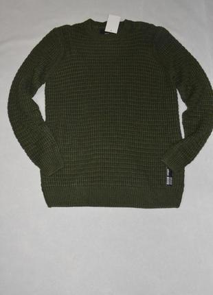 Мужской зеленый теплый свитер большого размера 56-58 c&a германия