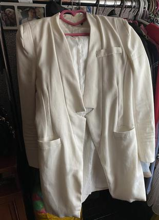 Жакет пиджак удлинённый на подкладке xs s